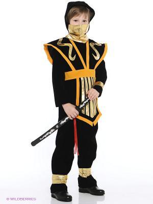 Карнавальный костюм Супер ниндзя Батик. Цвет: черный