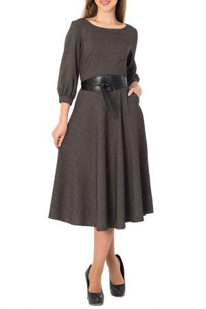 Длинное платье с потайной молнией S&A style. Цвет: серый