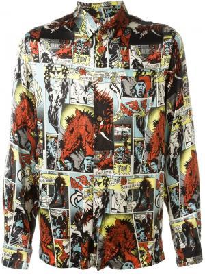 Рубашка с принтом комиксов Jean Paul Gaultier Vintage. Цвет: многоцветный