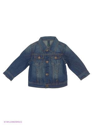 Куртка United Colors of Benetton. Цвет: темно-синий, темно-зеленый, темно-серый