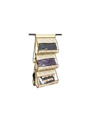 Кофр подвесной для сумок Цветочное изобилие EL CASA. Цвет: бежевый