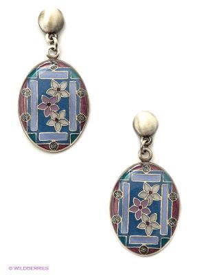 Серьги Clara Bijoux. Цвет: синий, бордовый