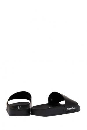 Черные сандалии со смайлом Joshua Sanders. Цвет: черный