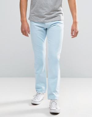 Tommy Jeans Голубые прямые джинсы в стиле 90-х M17. Цвет: синий