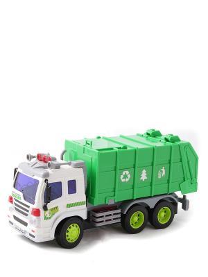 Машина Грузовик-мусоровоз Amico. Цвет: зеленый, белый, серый