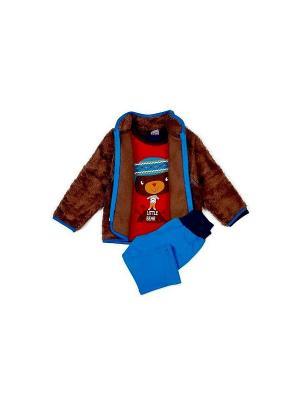 Комплекты одежды Yallo Kids. Цвет: синий, коричневый