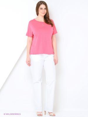 Блузка SVESTA. Цвет: лиловый, бледно-розовый