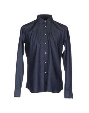 Джинсовая рубашка BEVILACQUA. Цвет: синий