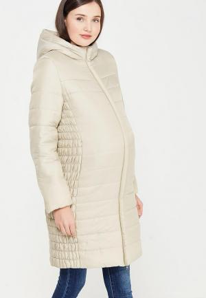 Куртка утепленная MammySize. Цвет: бежевый