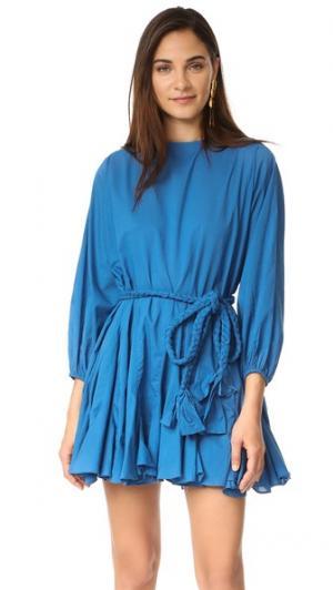 Платье Ella Rhode Resort. Цвет: голубой