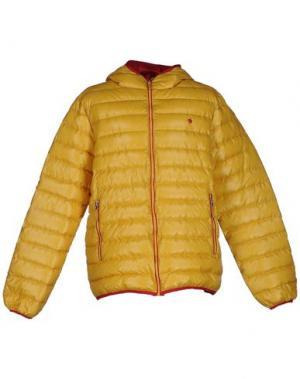 Пуховик COTTON BELT. Цвет: желтый
