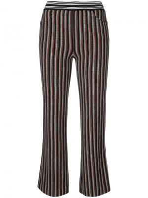 Укороченные брюки в полоску Missoni. Цвет: чёрный