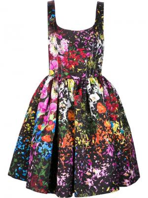 Floral print flared dress Jonathan Cohen. Цвет: многоцветный