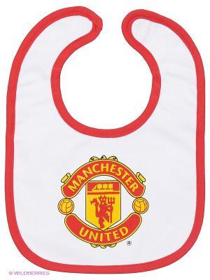 Нагрудник Manchester United FC Atributika & Club. Цвет: белый, красный