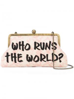 Who Runs  World clutch Sarah's Bag. Цвет: белый