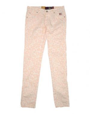 Повседневные брюки ROŸ ROGER'S. Цвет: светло-розовый