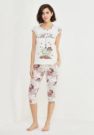 Пижама Cleo. Цвет: белый
