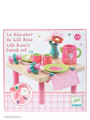 Сюжетноролевая игра Набор для ланча Лили Роз DJECO. Цвет: розовый