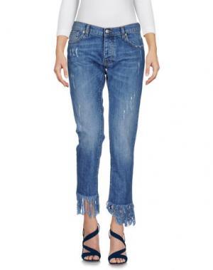 Джинсовые брюки-капри GAëLLE Paris. Цвет: синий