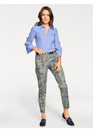 Моделирующие брюки ASHLEY BROOKE by Heine. Цвет: цвет шалфея/разноцветный
