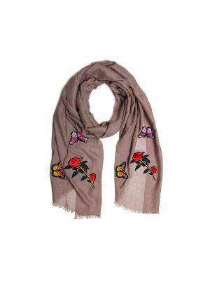 Шарф Kameo-bis. Цвет: серо-коричневый, красный, розовый