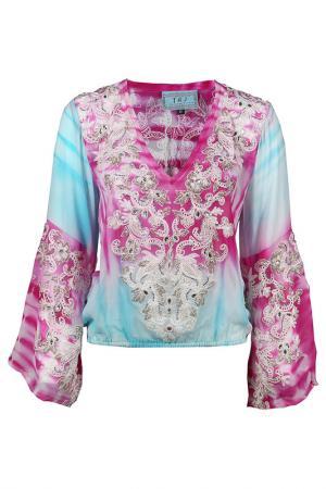 Блузка TAJ. Цвет: разноцветный