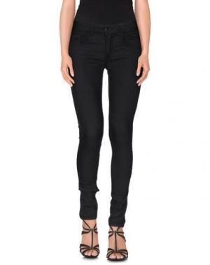 Джинсовые брюки MAISON ESPIN. Цвет: свинцово-серый