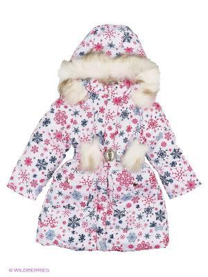 Пальто для девочки Rusland. Цвет: белый