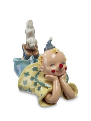 Фигурка Клоун (Pavone) Pavone. Цвет: серый,светло-желтый