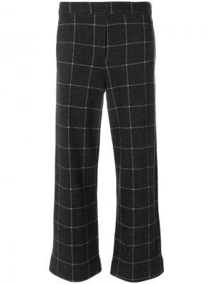 Укороченные брюки в клетку Woolrich. Цвет: серый