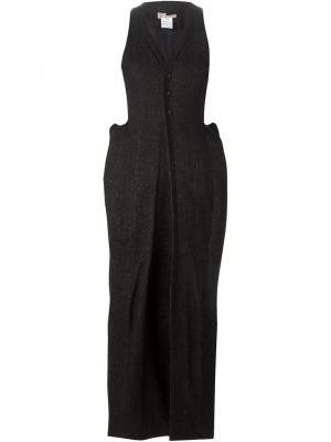 Платье c V-образным вырезом And Re Walker. Цвет: чёрный