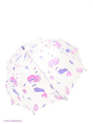 Зонт Isotoner. Цвет: прозрачный, розовый, синий