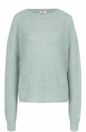 Пуловер свободного кроя с круглым вырезом Acne Studios. Цвет: светло-зеленый