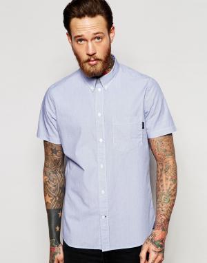PS by Paul Smith Классическая рубашка в тонкую полоску с короткими рукавами. Цвет: синий
