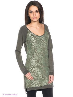 Платье Freddy. Цвет: серо-зеленый