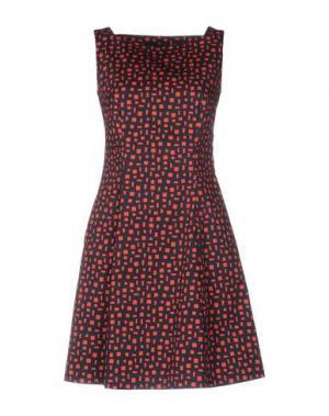 Короткое платье CIVIDINI. Цвет: темно-синий