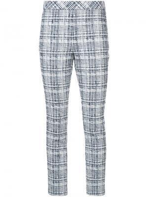 Твидовые брюки скинни Rosetta Getty. Цвет: белый