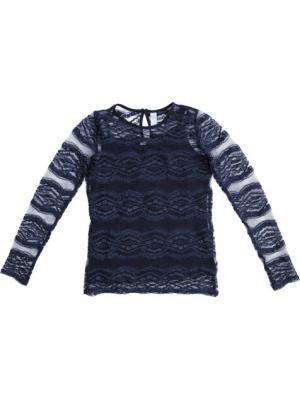Блузка трикотажная S`Cool. Цвет: темно-синий