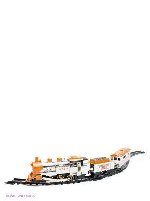 Железная дорога Николаевский экспресс 1Toy. Цвет: серебристый, оранжевый, черный