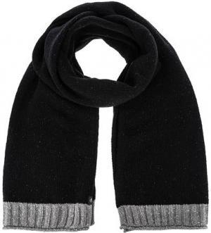 Черный шерстяной шарф Marc O'Polo. Цвет: черный