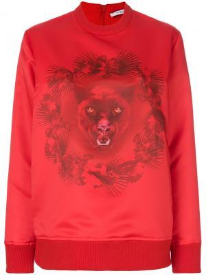 Толстовка с принтом пантеры Givenchy. Цвет: красный