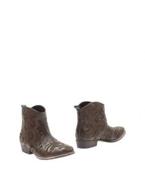 Полусапоги и высокие ботинки AGL ATTILIO GIUSTI LEOMBRUNI. Цвет: темно-коричневый