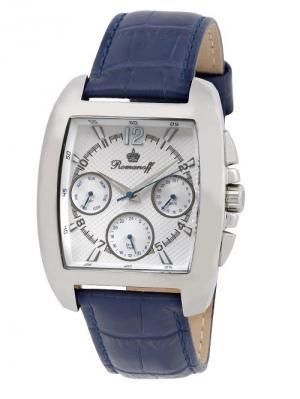 Часы Romanoff. Цвет: синий, серебристый