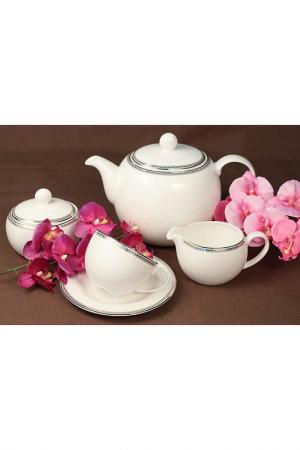Сервиз чайный 17 пр. Ejiry. Цвет: белый