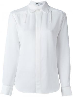 Рубашка с молниями Y-3. Цвет: белый