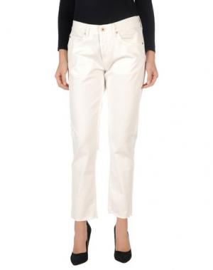 Джинсовые брюки OFF WHITE c/o VIRGIL ABLOH. Цвет: белый