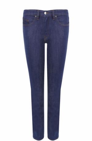 Укороченные однотонные джинсы-скинни Victoria, Victoria Beckham. Цвет: синий