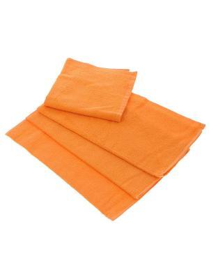 Махровое полотенце-оранжевый-50х90-100% хлопок, УзТ-МПМ-004-01-27 Aisha. Цвет: оранжевый