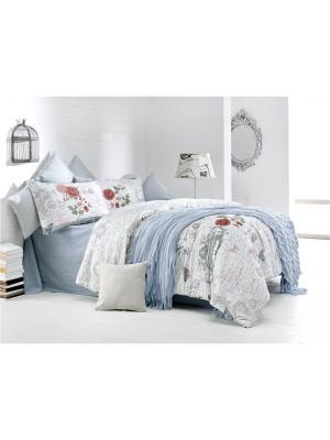 Комплект постельного белья LA ROSA ранфорс, 145ТС, евро ISSIMO Home. Цвет: светло-серый