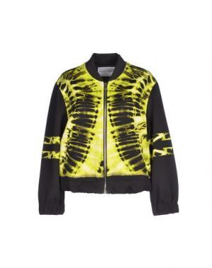 Куртка THE TEXTILE REBELS. Цвет: кислотно-зеленый